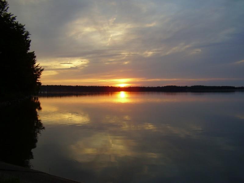 Velké Dářko západ slunce